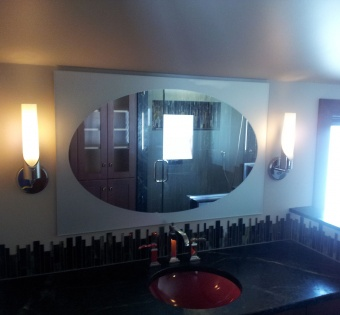 Custom Oval Bathroom Mirror