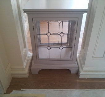 Leaded Glass End Table