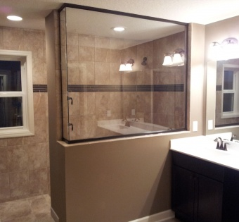 Custom Semi-Frameless Shower Enclosure Remodel MN