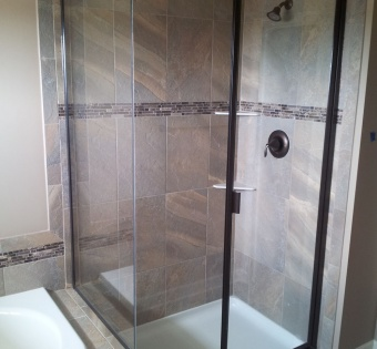 Semi-Frameless Custom Shower Enclosures Minneapolis