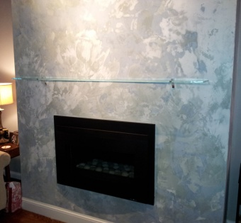 Custom Glass Fireplace Mantle