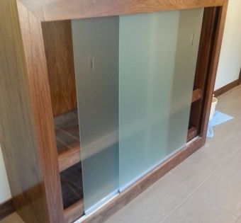Sandblasted Glass Sliding Doors