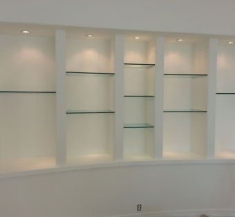 Built-In Glass Shelves MN