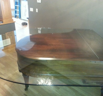 Custom Cut Glass on Piano