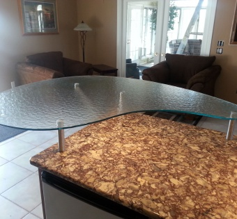 Textured Glass Counter