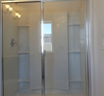 Custom Semi-Frameless Sliding Shower Door