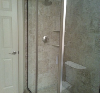 Semi-Frameless Glass Shower Enclosure Minneapolis