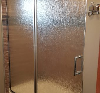 custom semi frameless shower enclosure mn